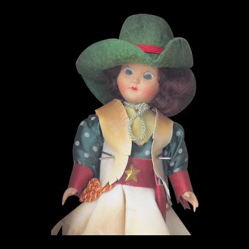 Vintage Virga Doll Cowgirl, Made Beehler Arts, NY