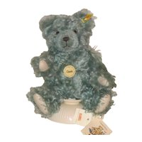 "11"" Steiff Classic Blue Bear with Growler, Genuine Mohair"