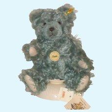 """11"""" Steiff Classic Blue Bear with Growler, Genuine Mohair"""