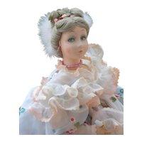 """24"""" Lenci Lavinia Boudoir Doll, Made Italy, 1985"""