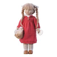 "Vintage 19"" Cloth Doll by Artist Karen Heller"