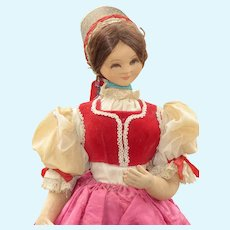 Vintage Stockinette Doll, Elaborate Costume
