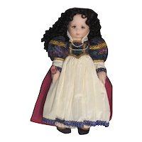 Vintage Snow White Felt Doll, Shirley Peck