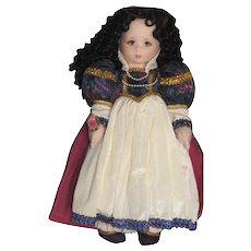 Vintage Snow White Felt Doll, Shirley Peck