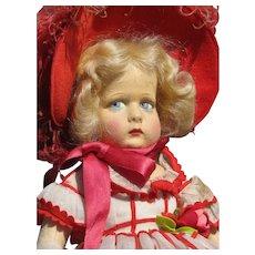 "19"" Vintage Lenci Doll All Original"