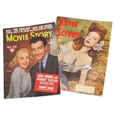 Two Vintage 1940s Movie Magazines