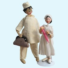 Vintage Doctor & Nurse Doll, With Accessories