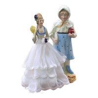 Vintage Bisque Figurine & China Half Doll
