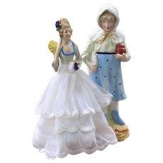 Vintage Bisque Figurine & China Half Doll
