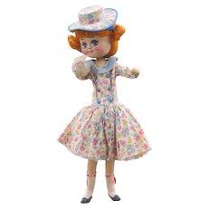 "13"" Vintage Smiling Cloth Doll"