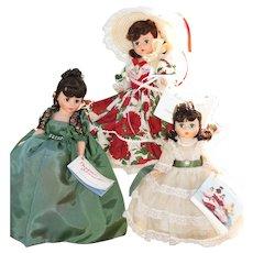 3 Vintage Madame Alexander Dolls, Scarlett, Cissette
