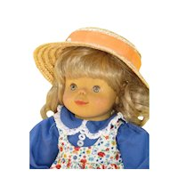 Vintage Wood Head Artist Doll