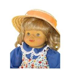Vintage Wood Head Artist Doll