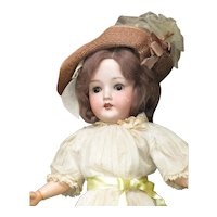 "18"" Vintage German BIsque Head Doll"