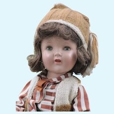 Vintage Composition Doll, Sleep Eyes