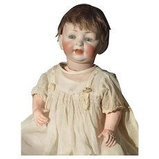 Vintage German Bisque Head Character Baby Doll