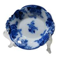 Vintage English Flow Blue Serving Dish