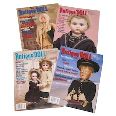 Four 2012 Antique Doll Collector Magazines, January through April