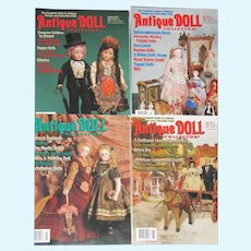 Four 2012 Antique Doll Collector Magazines, May-Aug