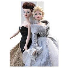 Two Vintage Gene Fashion Dolls, Elaborate Gowns