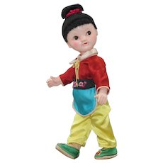 """Vintage 9"""" Chinese Composition Child Doll"""