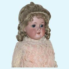 "22"" German Bisque Head A.M. 370 Doll"