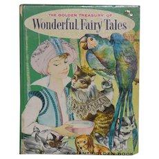 Vintage Book -- Golden Treasury of Wonderful Fairy Tales