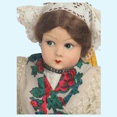 Vintage All Original Marga of Hungary Felt Doll