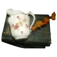 Antique (1886-1899) W.A.A. & Co | Adderley Spray No. 30 hand-painted creamer or milk jug made in England.