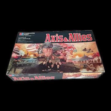 Vintage (1987) Axis & Allies Milton Bradley Strategy | War board game. Milton Bradley Game Master series. Complete.