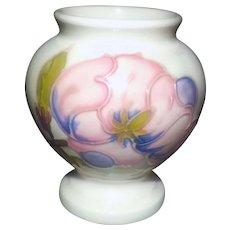Vintage (1970s) Moorcroft Magnolia hand-painted mini | novelty vase | spoon vase | jardiniere.