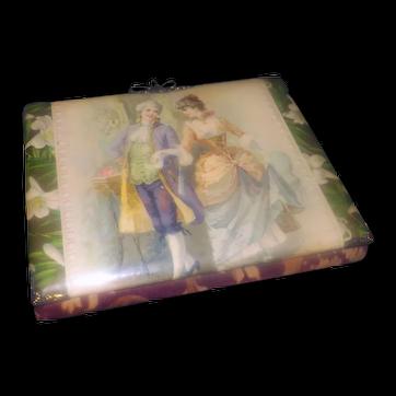 Antique Victorian-era (1840s) hard case photo album with velvet and brass trim. Chock full of 49 Victorian-era photos in rosewood sleeves.