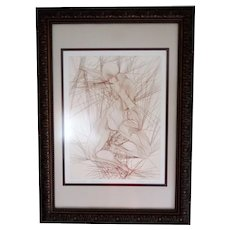 """Original Guillaume Azoulay Hand Signed """"Contraction"""" AP Etching"""