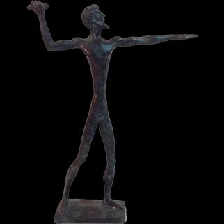 Bronze Sculpture of Zeus Throwing Lightning