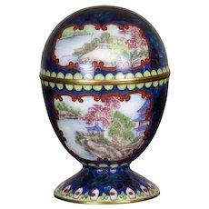 Vintage Chinese Enamel Ware Cloisonne- Hand Painted Canton Enamel Reserve Panels