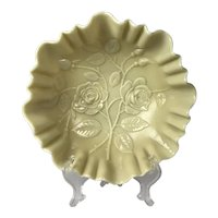 Vintage Imperial Glass Custard Footed Rose Bowl
