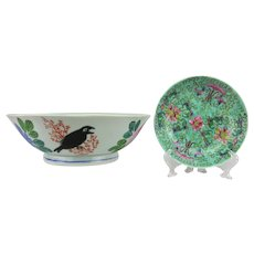 Chinese Pair of Hand Painted Porcelain Bowls