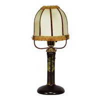 Antique French Cameo Glass Lamp by Gauthier