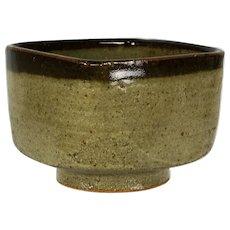 Japanese Mashiko yaki Four Sided Square Tea Bowl