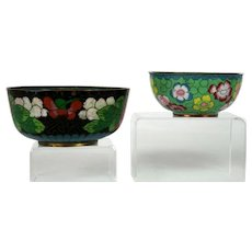 Antique Chinese Cloisonne Bowl Pair