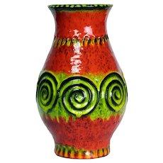 1970's MCM JASBA Keramik West German Pottery Vase N322 1128