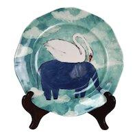 Anthropologie Echo Treks Ringleader Elephant/Swan Dessert Plate Rebecca Rebouche