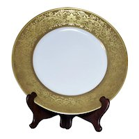 "Epiag Pirkenhammer D'Or Studio Porcelain Gold Rim 10.75"" Plate Czechoslovakia"