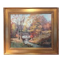 """James King Bonnar    """"Vermont Woods in the Fall"""""""