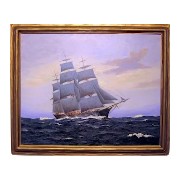 "Fred G. Jennings    ""Sailing in Rough Seas"""