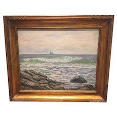 "Hugo Melville Fisher  ""Sailboats on the Horizon"""
