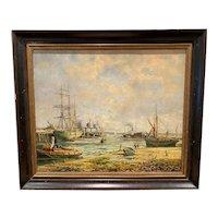 "Robert William Arthur Rouse    ""Shipyard at Dawn"""