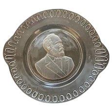 President James Garfield portrait plate