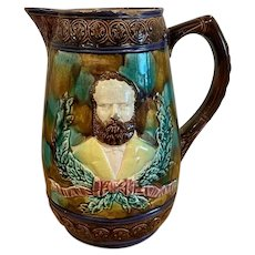 U.S. Grant Memorial Majolica Pitcher