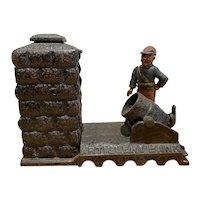 Cast Iron Artillery Bank by J. & E. Stevens Co.
